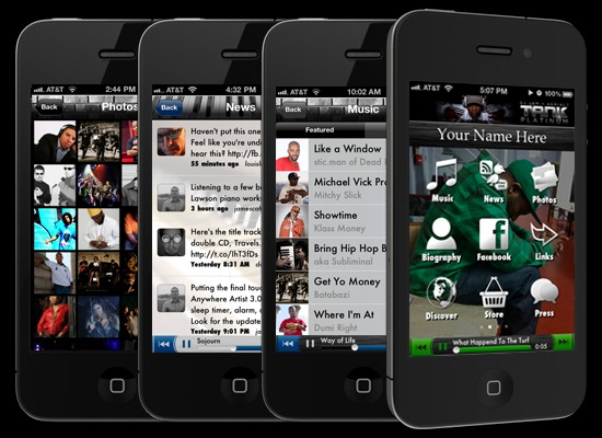 Anywhere Artist - Welcome - The iPhone/iPad App Platform for Any